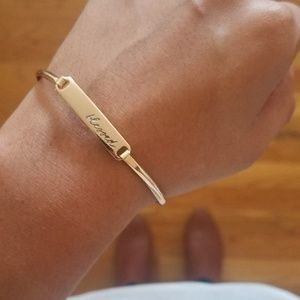 Jewelry - BLESSED GOLD HINGE BRACELET